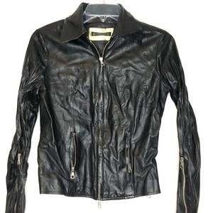 Plein Sud Faycal Amor Leather Motorcycle Jacket